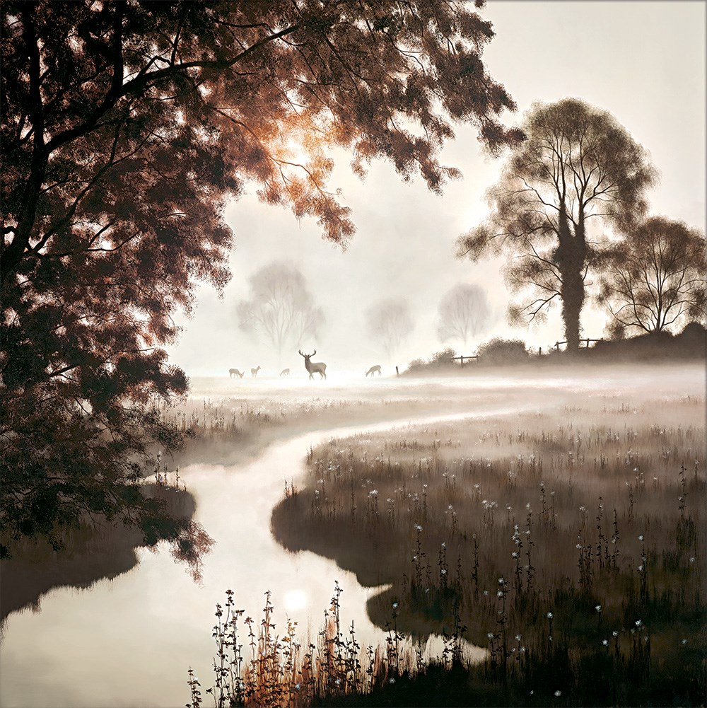 A Moment in Time by John Waterhouse - Limited Edition on Paper sized 30x30 inches. Available from Whitewall Galleries